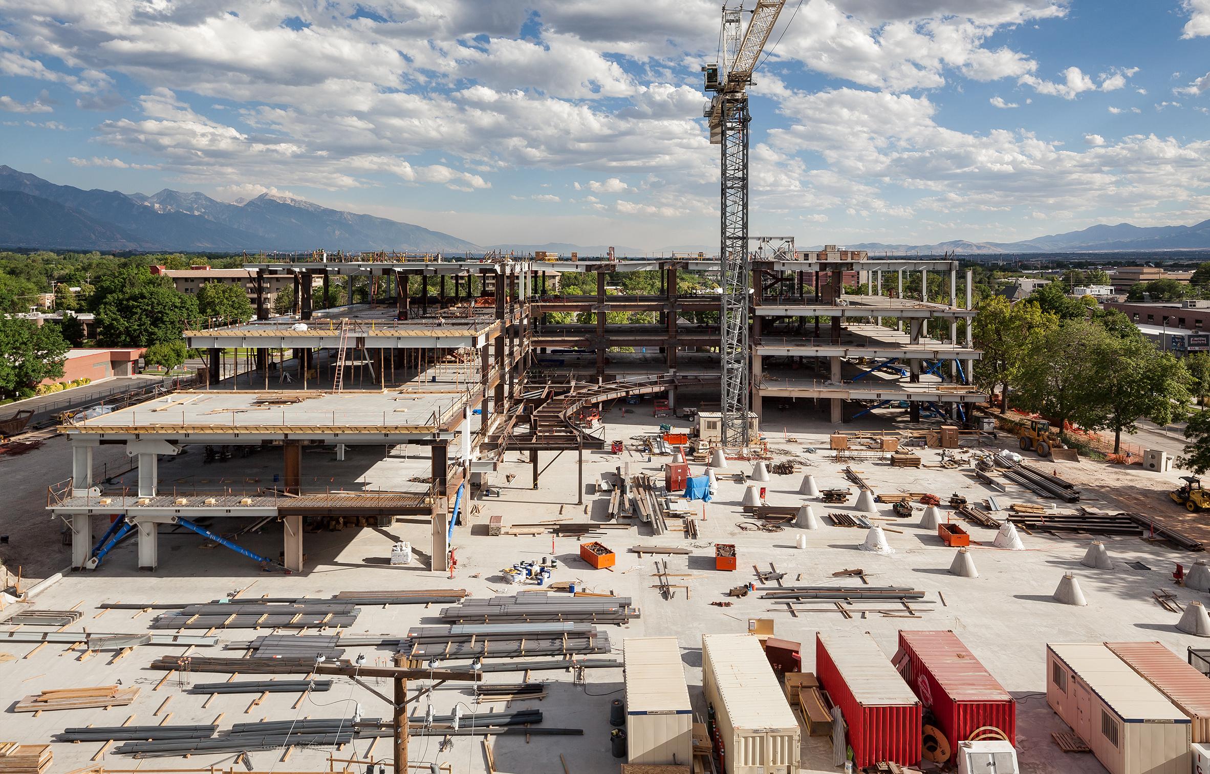 Salt Lake City Public Safety Building Under Construction