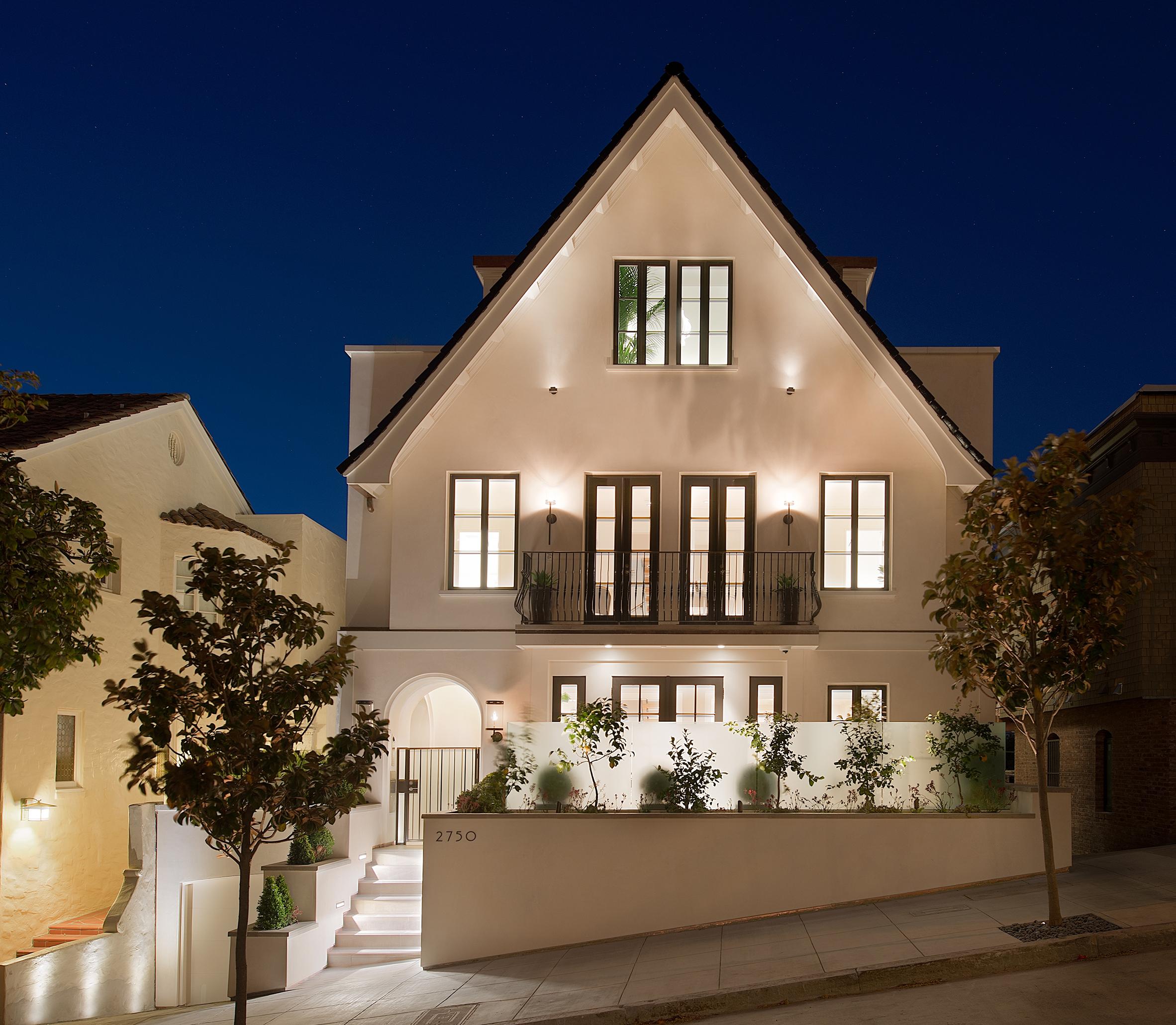 Residence 2750 street facade night