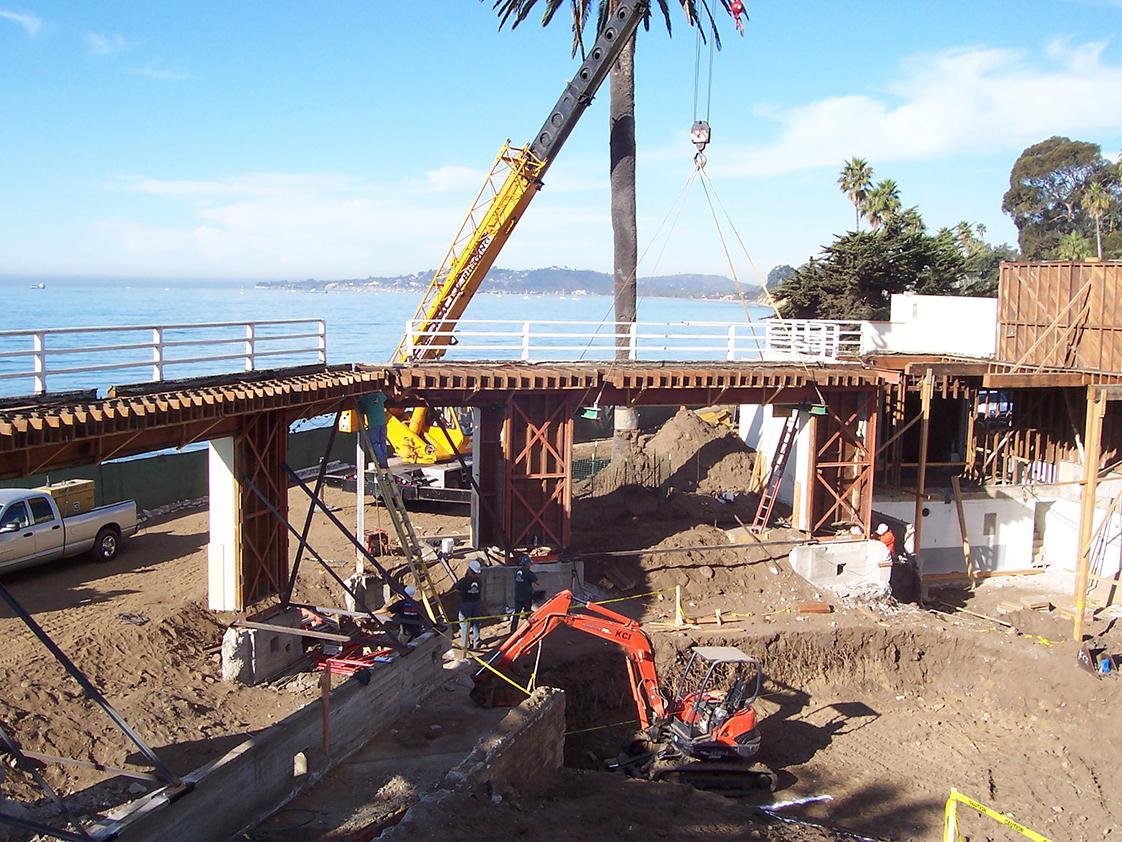 Coral Casino Beach Cabana Club Demolition by Pacific Ocean
