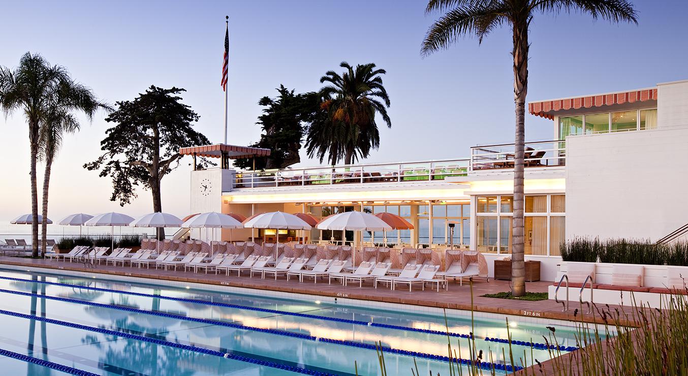 Coral Casino Beach and Cabana Club Santa Barbara dusk