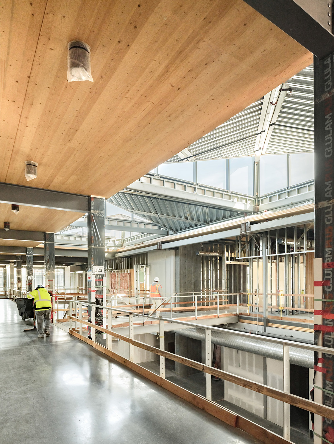 Mass Timber Atrium Space in Silicon Valley Engineered by Holmes