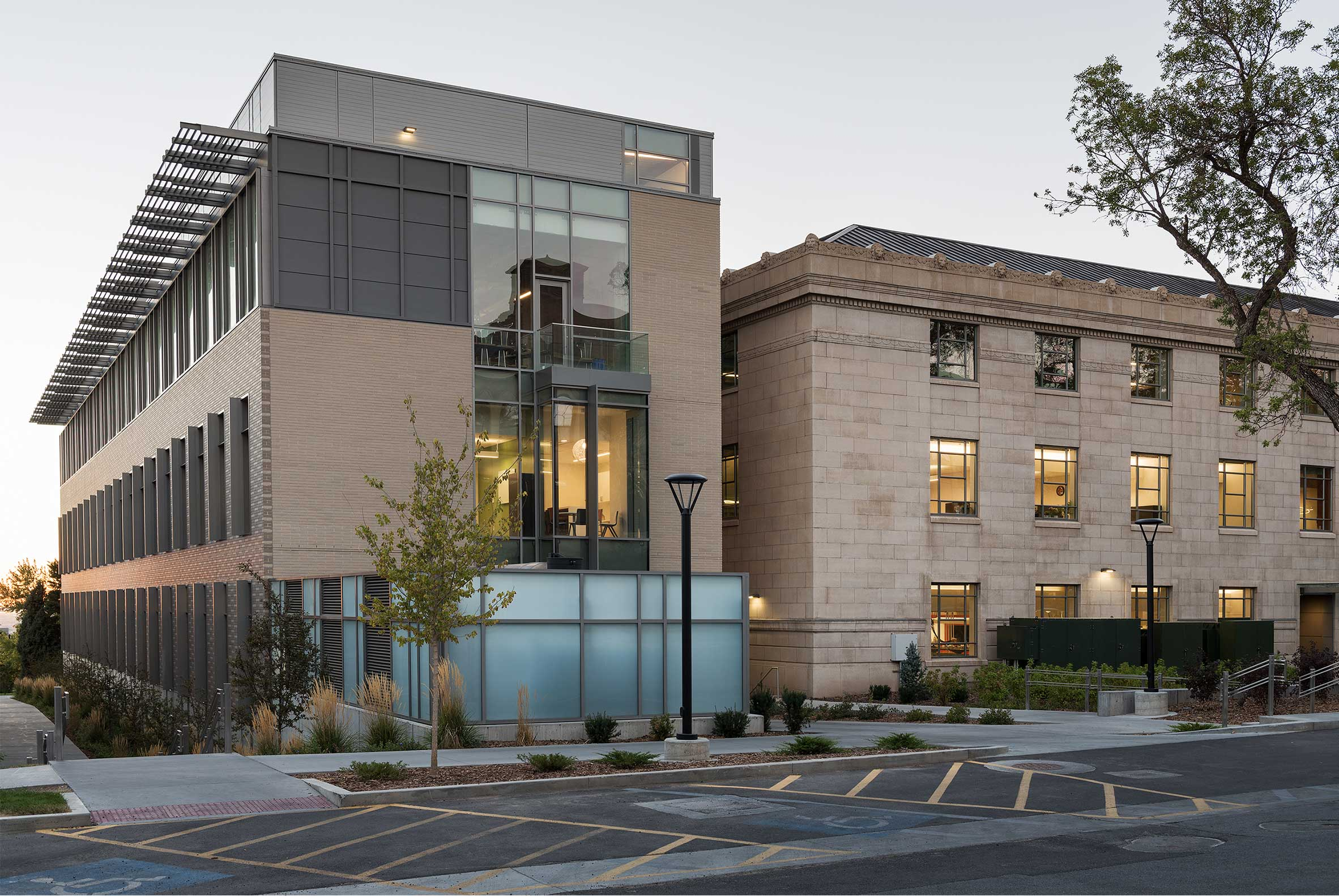 New Crocker Science Center Merges with Historic George Thomas Building at University of Utah, Salt Lake City