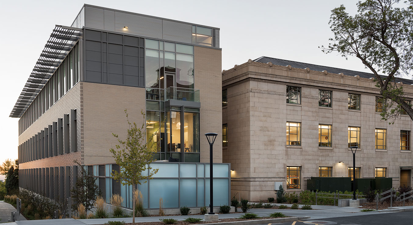 New Crocker Science Center Merges with Historic George Thomas Building at University of Utah, Salt Lake City