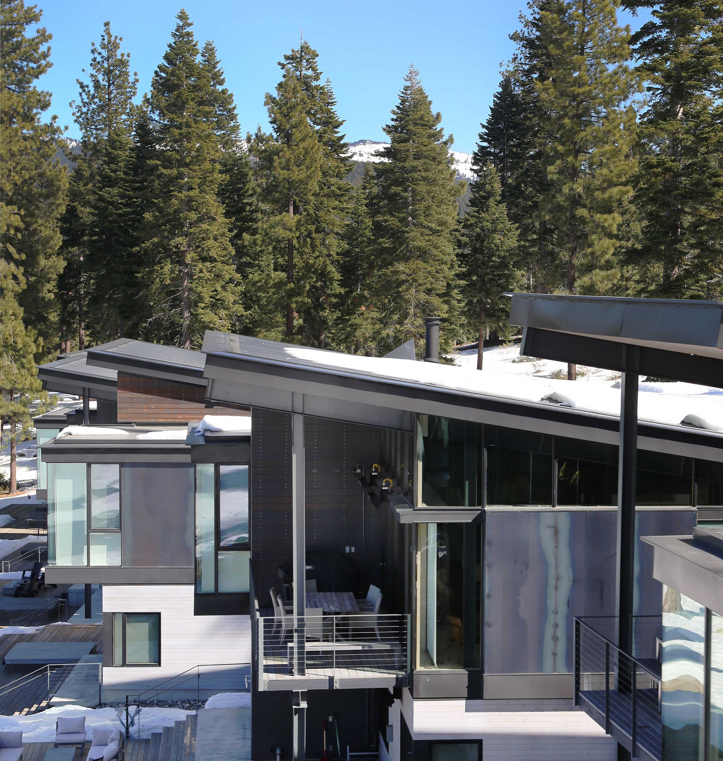 Northstar Townhomes at Ski Resort: Residential Structural Engineering of roofs accommodate snowload in Truckee Tahoe Region California