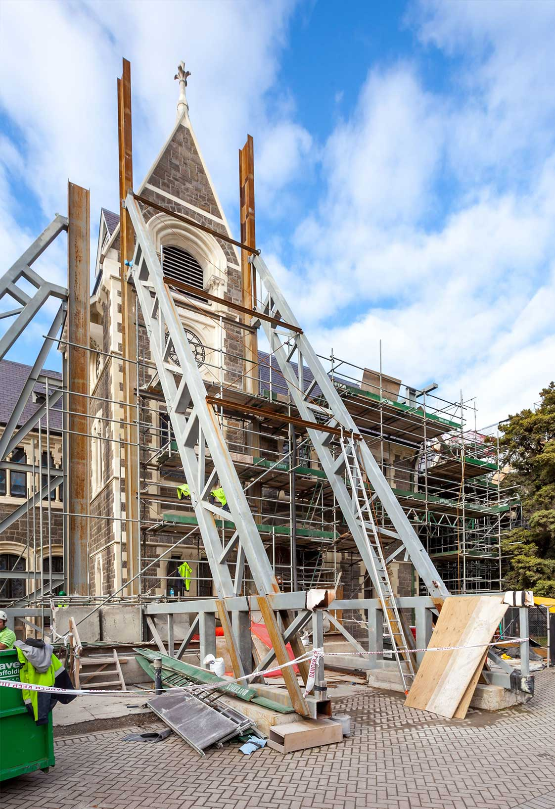 Retrofit of Christchurch Arts Center in New Zealand after Canterbury Earthquake