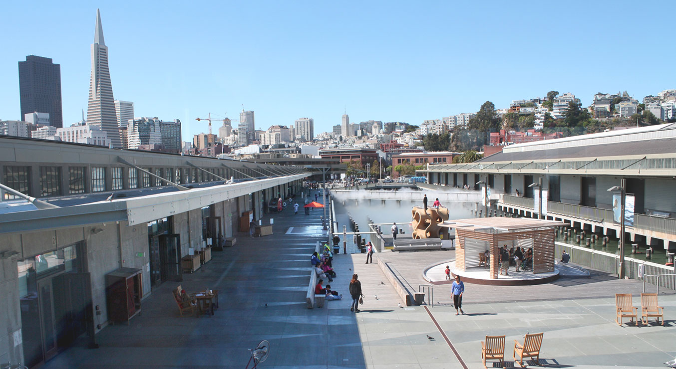 The Exterior of The Exploratorium Museum on The Embarcadero in San Francisco