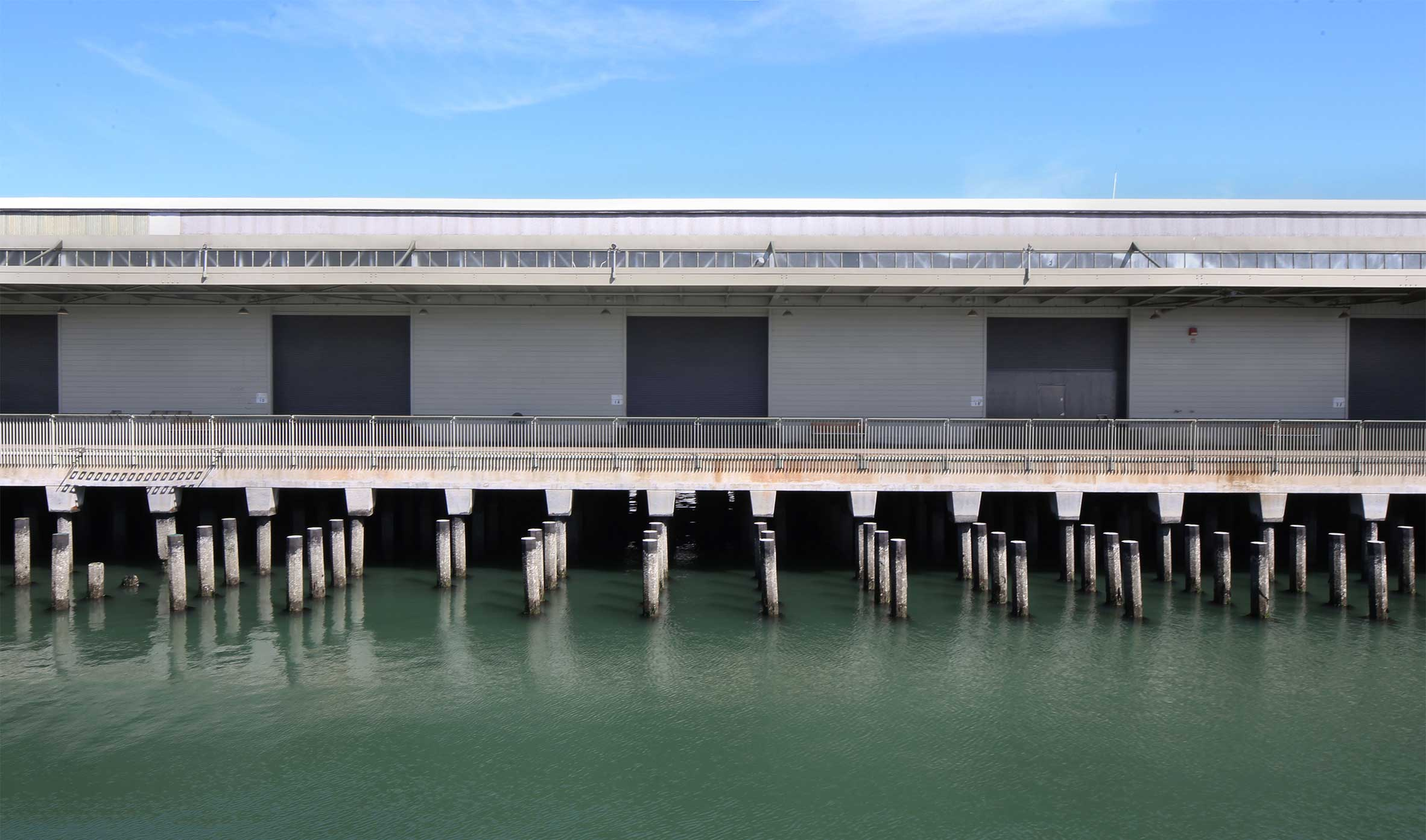 Egress Piers 15 and 17 at The Exploratorium, The Embarcadero San Francisco Substructure Superstructure
