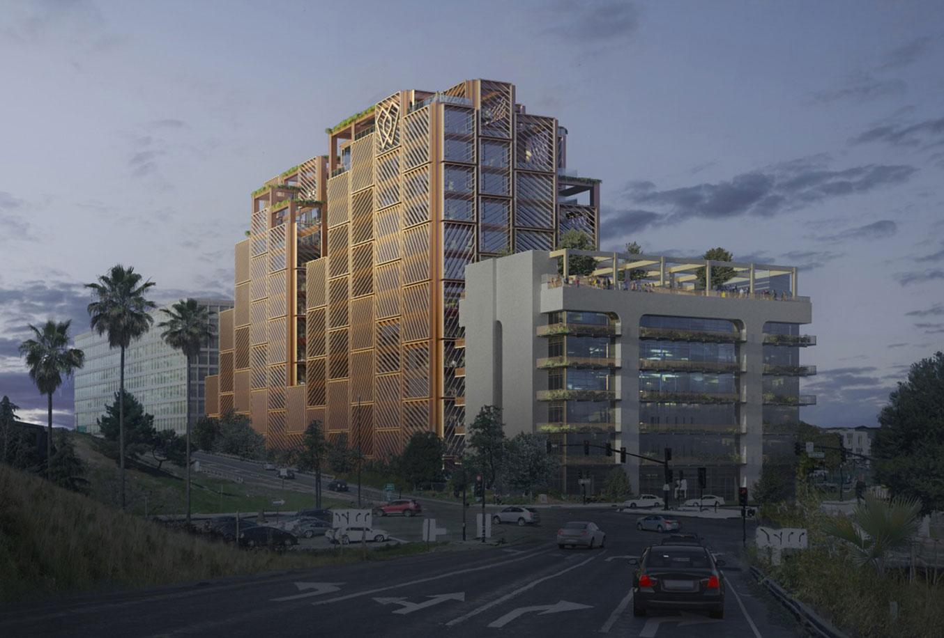 Arbor Westbank San Jose Rendering Mass Timber High-Rise by Studio Gang