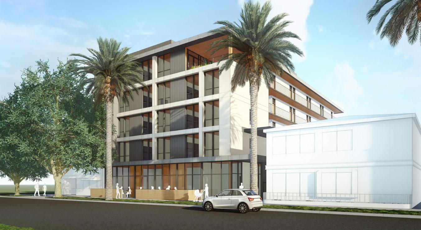 Courtyard Apartments Mass Timber Exterior Mixed-Use Affordable Housing in Sacramento California