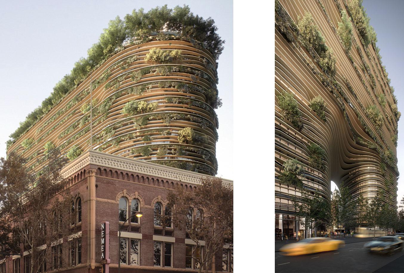 The Energy Hub Westbank San Jose High-Rise Rendering by Bjarke Ingels Group