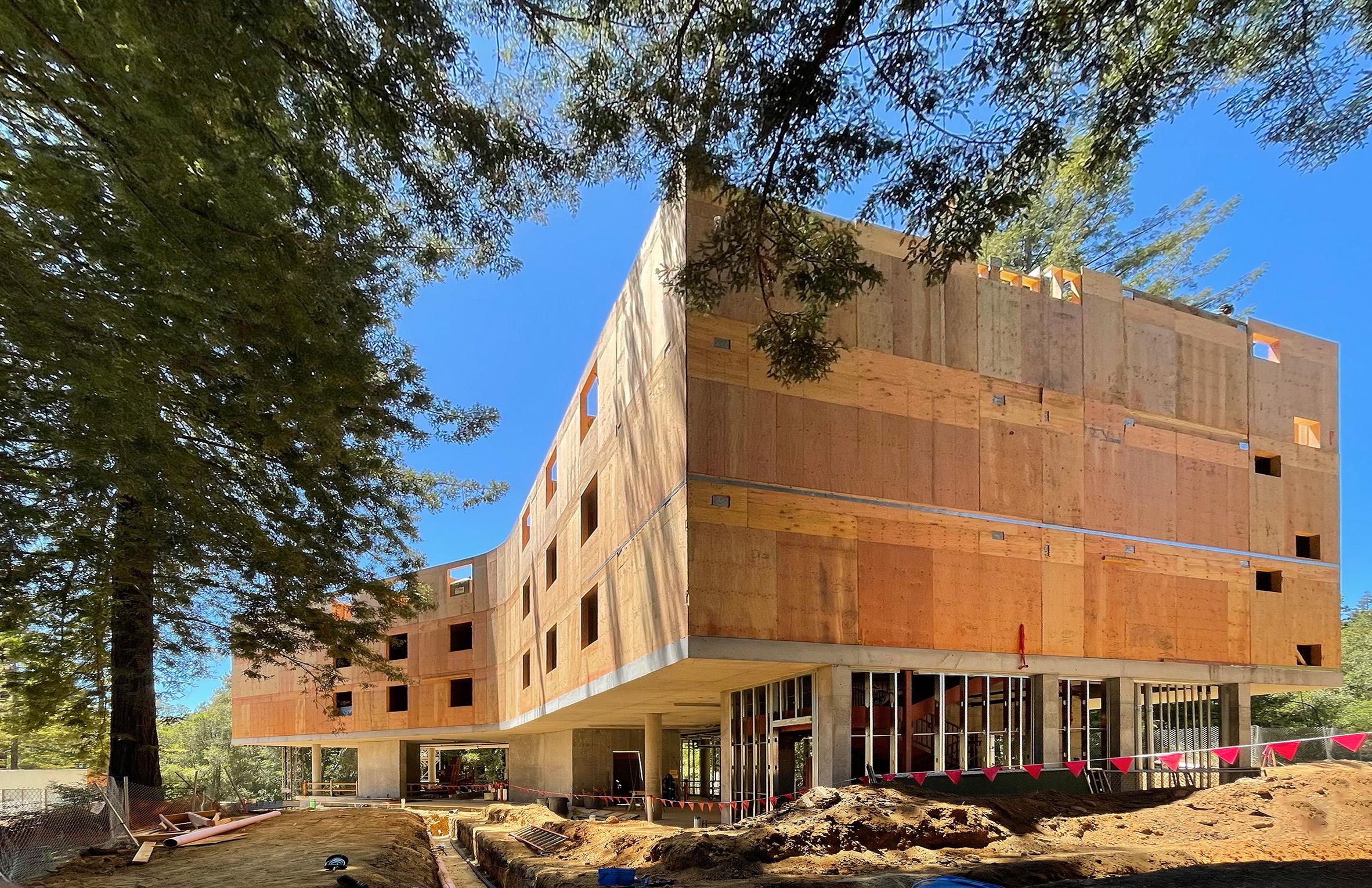 UC Santa Cruz Kresge College Mass Timber Residence Halls Under Construction