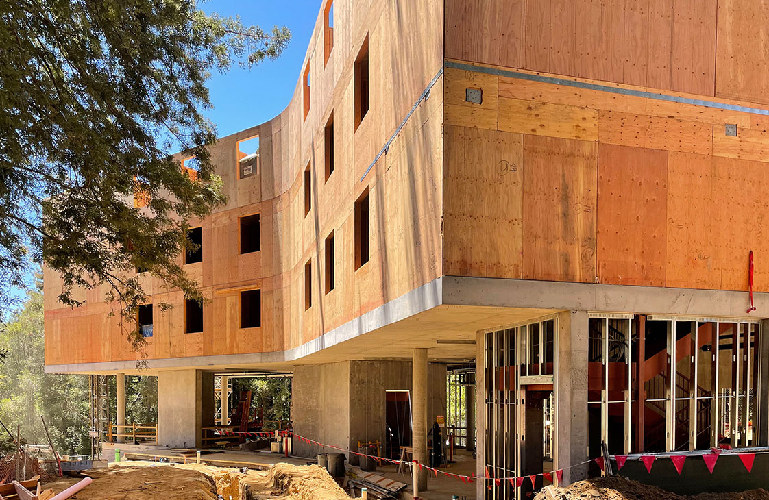 UC Santa Cruz Kresge Dorm Mass Timber Construction California Redwoods
