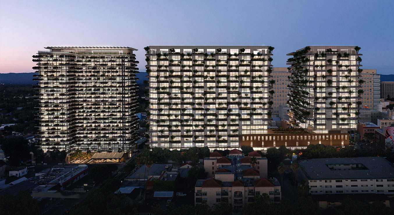 The Orchard Green Facade Towers at Westbank San Jose Renderings by WRNS Studio