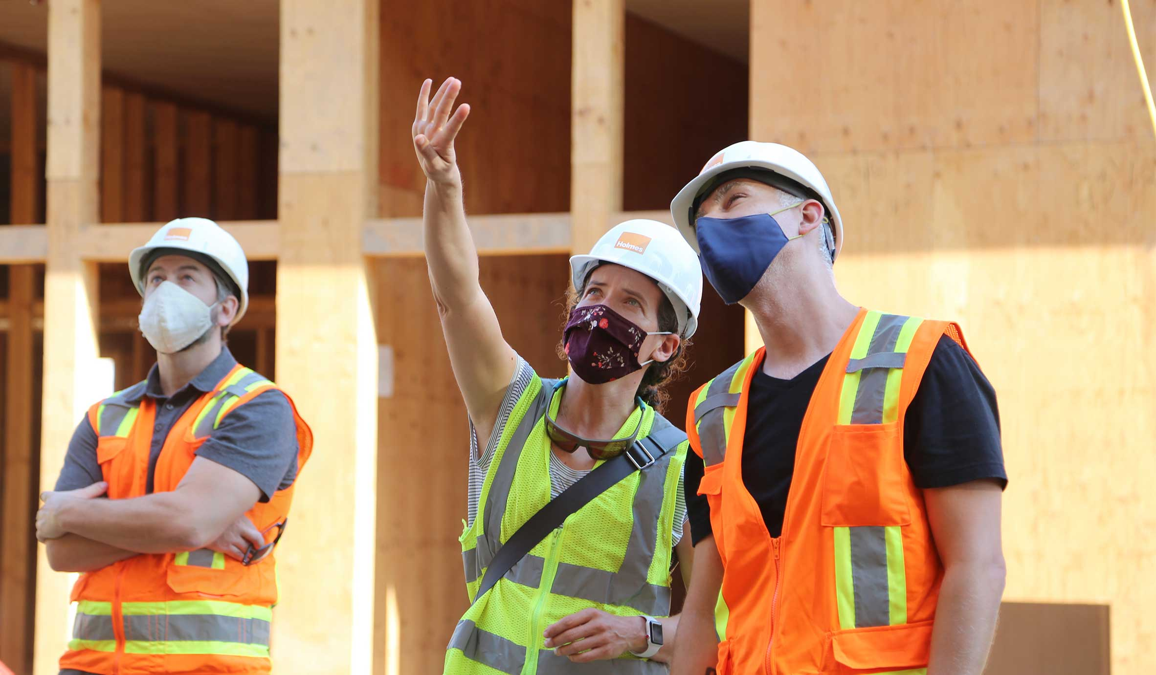Holmes Mass Timber Engineers Onsite for Mass Timber Apartment Construction