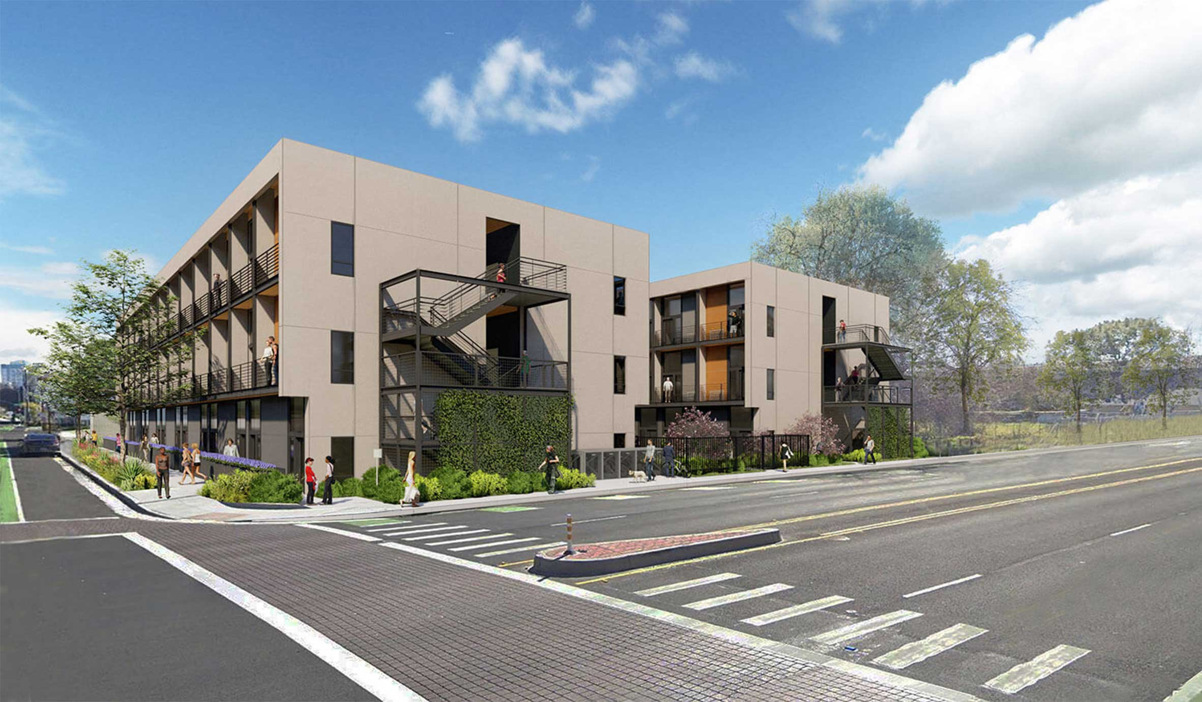 Mass Timber Apartments The Kind Project ArchitecTURAL rENDERING